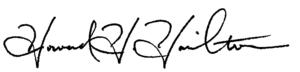 Howard Hamilton (Signature)