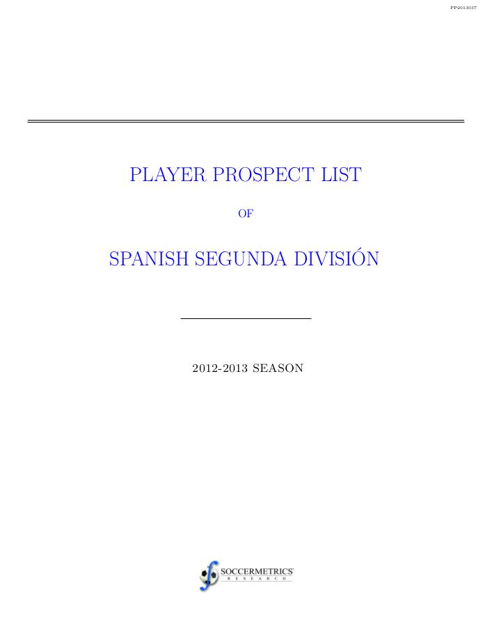 spanish primera division