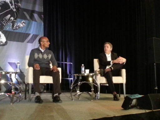 2015 SSAC Soccer Analytics Panel Discussion. L-R: Ravi Ramineni and Chris Anderson.
